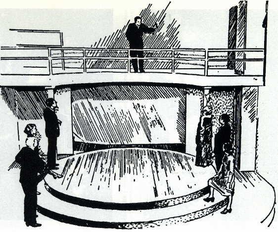 Scena del Teatro di Psicodrammma di Moreno - Beacon(N.Y.)